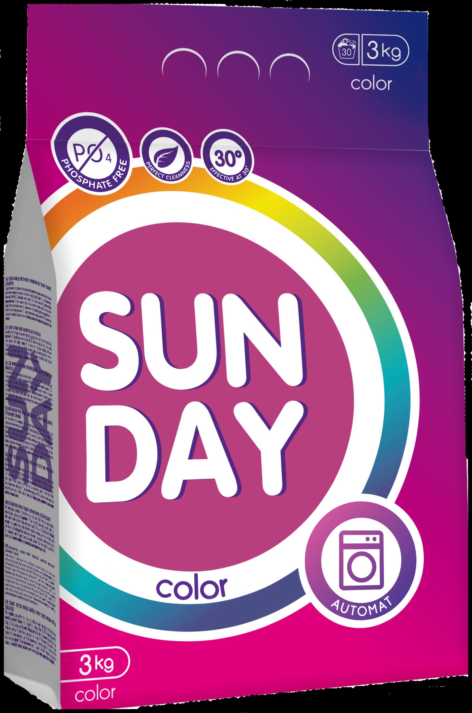 Стиральные порошки «Sunday цветного» 3кг
